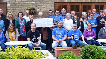 Wilburton Beer Festival Beneficiary Ceremony which took place last Thursday evening. A total of £7,3