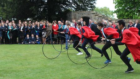 Action from the King's Ely Hoop Trundle. PHOTO: King's Ely