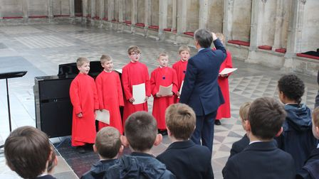 King#s Ely students join choristers' day at the cathedral