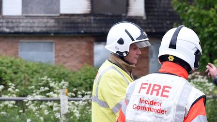 Firefighters tackled a fire in a derelict building on Meadowgate Lane, Wisbech, on Monday (May 8). T