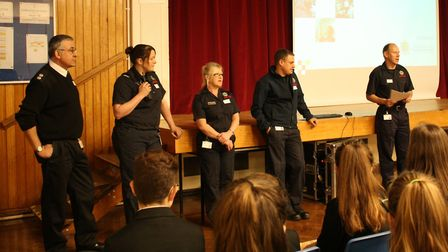 Pupils at Witchford Village College were visited by the Ely Fire and Rescue Service last week. PHOTO