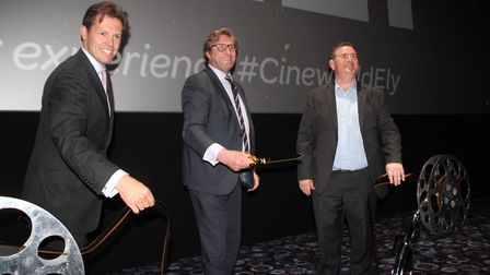 Mayor of Cambridgeshire and Peterborough, James Palmer, officially opened the new Cineworld in Ely o