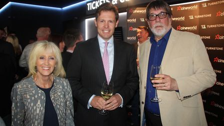 Cllr Lis Every, Tim Deacon of Turnstone Estates and Cllr Richard Hobbs at the opening of Cineworld E