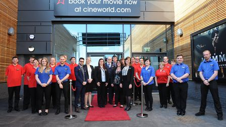 Staff at the new Cineworld at the Ely Leisure Centre. PHOTO: Cineworld