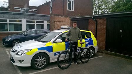 Edward Owen was reunited with his bike after police were called to reports of an abandoned bicycle i