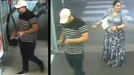Police would like to speak to the people in these CCTV images in connection with a theft of £200 fro