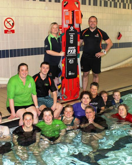 Staff at the George Campbell Leisure Centre undergo training in using the new PXB board.