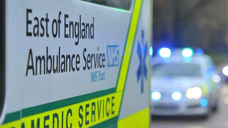 A man was taken to hospital this morning with life-threatening injuries