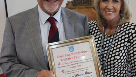 Former chairman of East Cambridgeshire District Council, Councillor Michael Allan, and new vice-chai