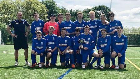 Peterborough & District Youth League Division Three champions, March Soccer School Under 18s.