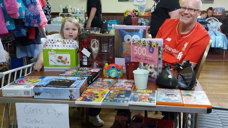 A Littleport woman raised 125 for The Port youth group by holding a table-top sale.