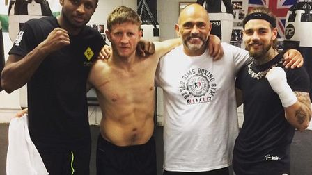 Craig Richards, Bradley Saunders, Pete Sims and Tyler Goodjohn, who is returning to the ring on July