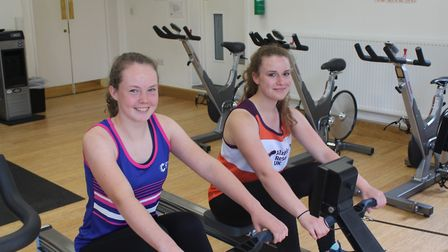 King's Ely Senior students Rebecca Garrett, 15, and Sophie Wood, 17, will run and row the equivalent