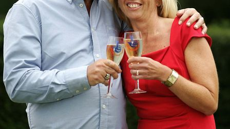 Euro Lottery winners Dave and Angela Dawes from Wisbech.