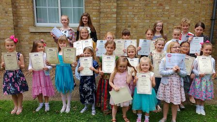 Pupils at the Vera Frances School of Dance, March, achieved 100 per cent in their recent exams.