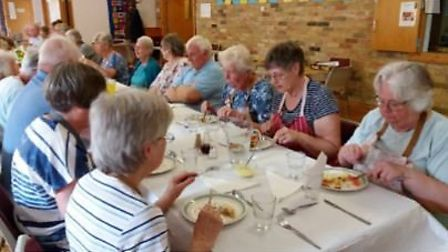 Ely Methodist Church's debut Holiday at Home is a success.