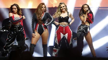 Little Mix take to the stage at Newmarket Nights Picture: JOHN HOY
