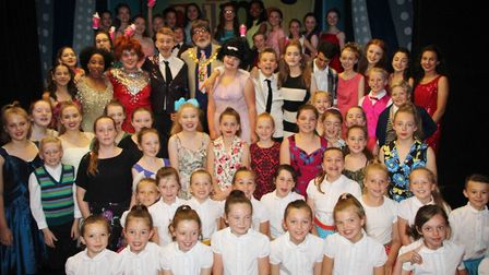 Mayor of Ely Councillor Richard Hobbs went backstage at the matinee to thank the whole 'Hairspray Jn