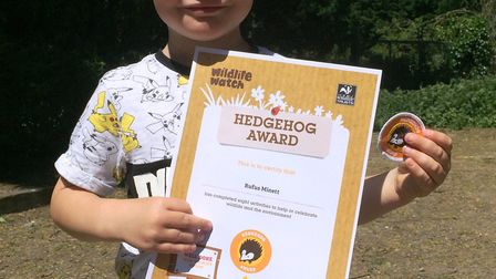 Four-year-old Rufus Minnett has become the youngest ever member of Ely Wildlife Watch to win The Wil