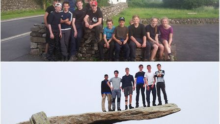 King's Ely students training in North Wales, above, and tackling the Yorkshire Three Peaks challenge