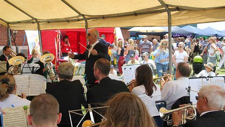 G's Farm open day for Farm Sunday. Wicken Coronation Band played during the afternoon.