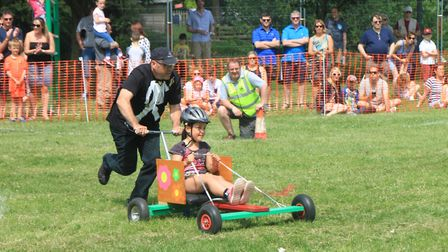 Action from the March Summer Festival first Soap Box Derby.