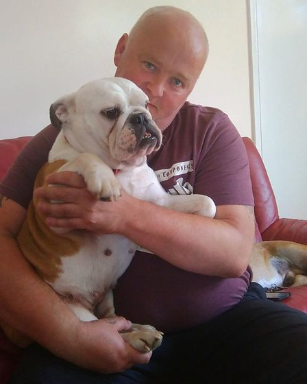 Betty and her new owner Sam. PHOTO: RSPCA