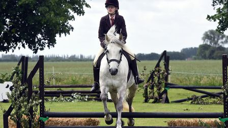 Gorefield Annual show. Ashley Jarvis-Lee riding Castle Gipsie.