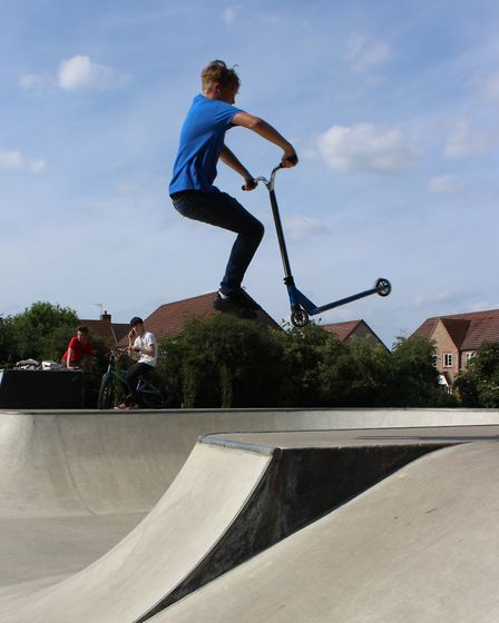 Chatteris skatepark opens and youngsters take adavantage of the new facility.