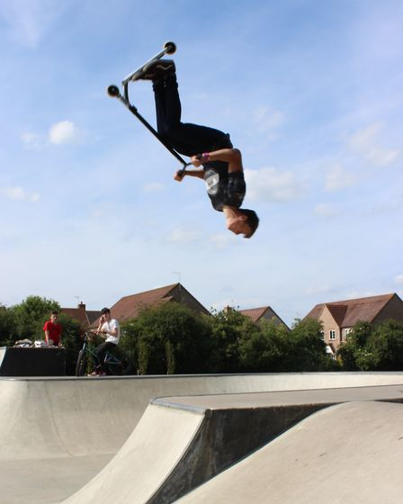 Chatteris skatepark opens - one youngster flies high at the opening on Thursday.