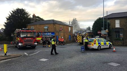 Police and the fire service were called to West Park Street in Chatteris on Friday after a fire at R