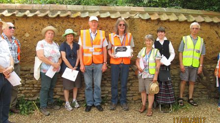 National Civic Day event June 17, the Whittlesey Mud Walls Group, invited resident to join walking t