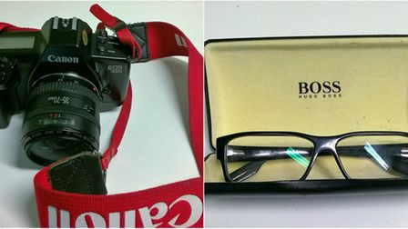 Hugo Boss glasses and Canon camera worth hundreds stolen in Ely.