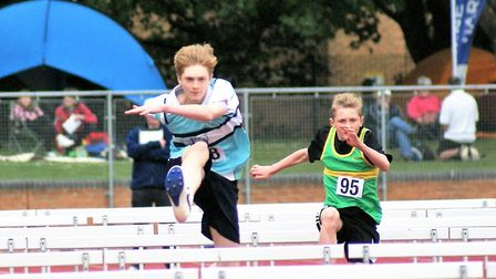 King's Ely's Ben Marshall on his way to qualifying for the the Anglian Schools' Athletics Championsh