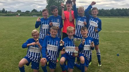 Hungate Rovers six-a-side under 12 winners, March Soccer School. PHOTO: Katie Conyard