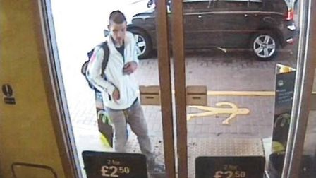 Do you recognise this man? Police want to speak to him in connection with the theft of £120 worth of