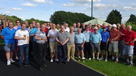All those who took part in the Peter Tunley Memorial Day at the Thorpe Wood golf course.