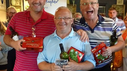 Some of the prize winners from the Peter Tunley Memorial Day.