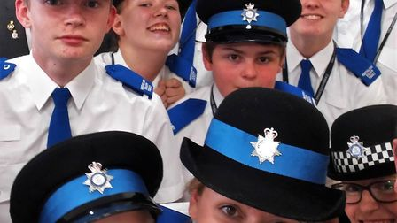 East Cambridgeshire police cadets formally affiliated with Royal British Legion Soham branch at cere