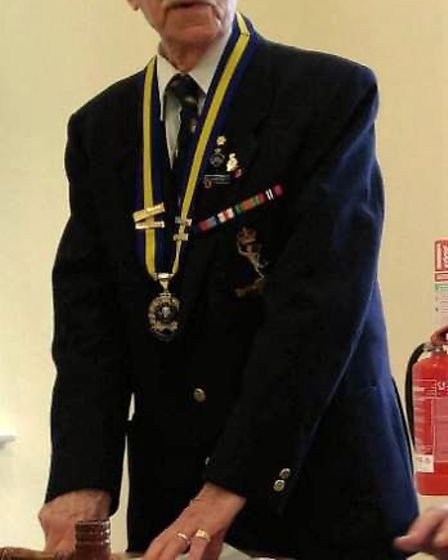 The ceremony was hosted by Ronald Palmer, who is the president of the Soham branch of the Royal Brit