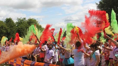 Early bird tickets now on sale for Ely colour dash in aid of East Anglia's Children's Hospices