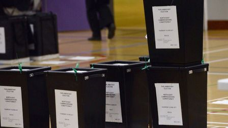 Boxes are lined up ready to be counted in numerical order.