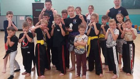 Fighters from Soham-based Strike Kickboxing and Boxing Club.