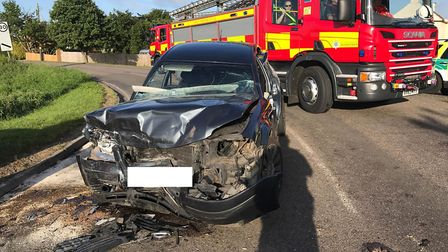 Two drivers were taken to hospital this morning with injuries after a two-vehicle collision in Benwi