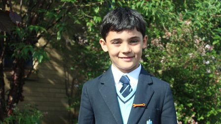 King's Ely Junior's Jack raises funds for children's hospice by joining charity walk. PHOTO: King's