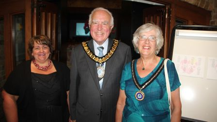 Ely Hero Awards organiser Naomi Sherwood with the leader of East Cambs District Council Cllr Peter C