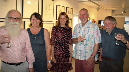 MP Lucy Fraser opens the David Hockney exhibition at Babylon Gallery in Ely