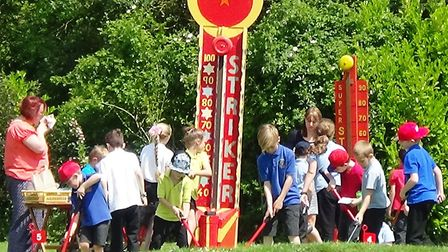 Anthony Curton and Tilney All Saints' schools celebrate academy status with joint party day.