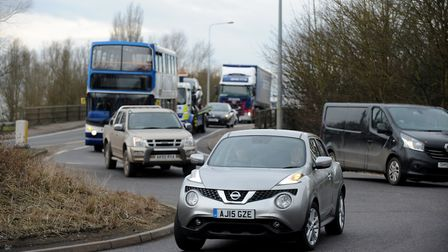 Guyhirn roundabout is one of the stretches on the A47 that will be affected by delays. PHOTO: Rob Ho