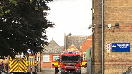 Man airlifted to hospital after falling from roof in Station Road, March